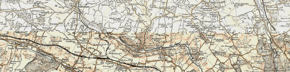 Old map of Latimer in 1897-1898