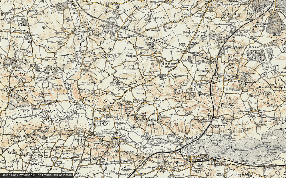 Old Map of Lattinford Hill, 1898-1901 in 1898-1901