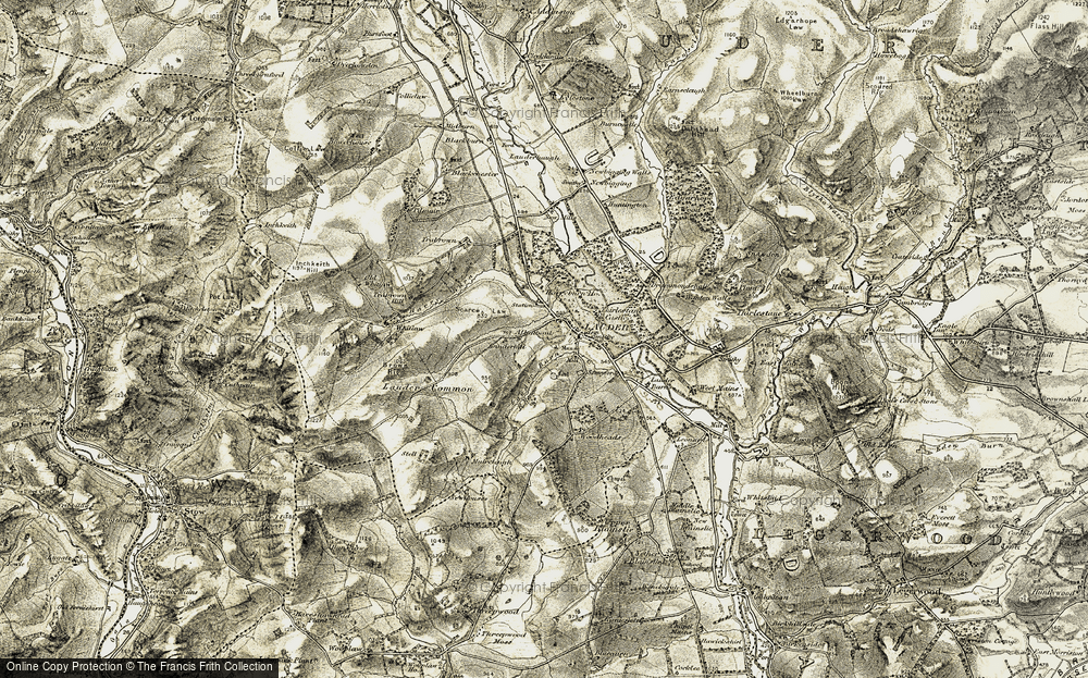 Old Map of Lauder, 1903-1904 in 1903-1904