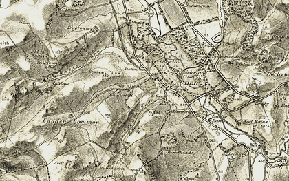 Old map of Lauder in 1903-1904