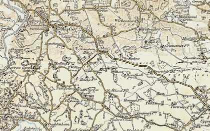 Old map of Laughern Hill in 1899-1902