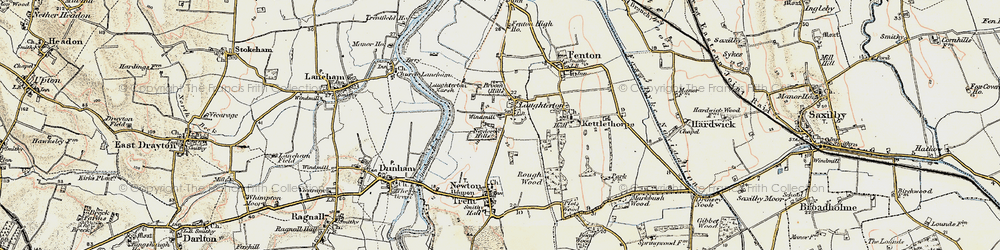 Old map of Laughterton in 1902-1903