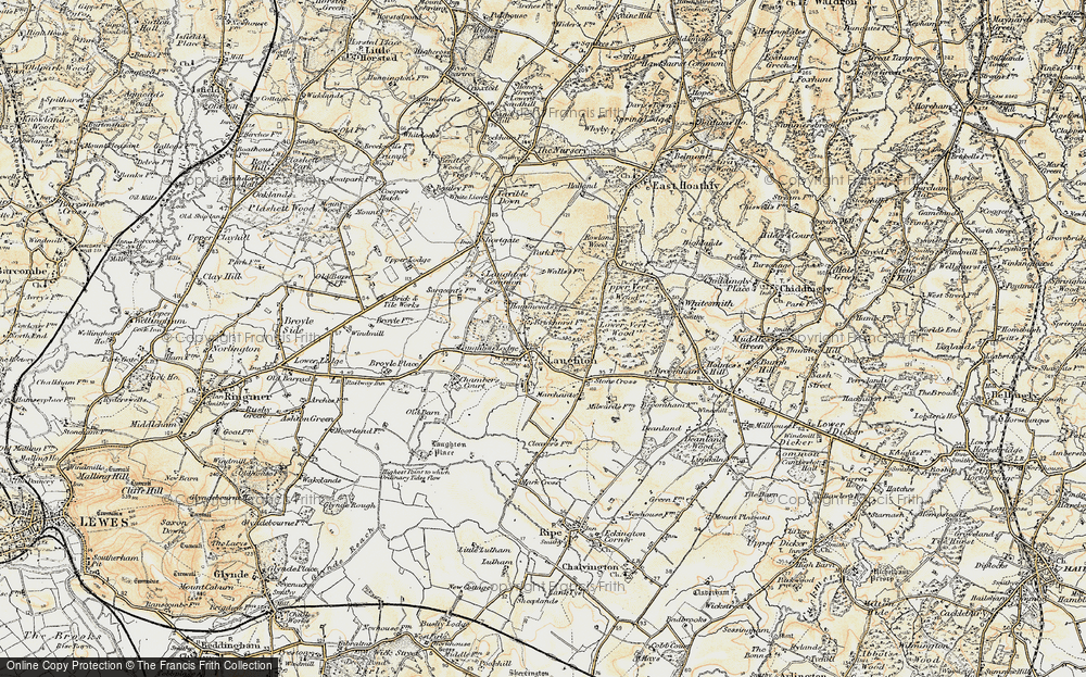 Old Map of Laughton, 1898 in 1898