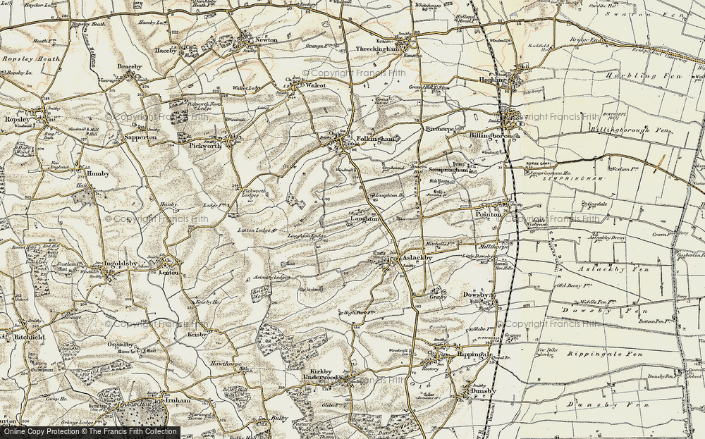 Old Map of Laughton, 1902-1903 in 1902-1903