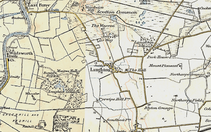 Old map of Laughton Wood in 1903