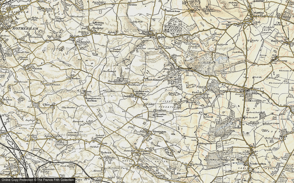 Old Map of Laughton en le Morthen, 1903 in 1903