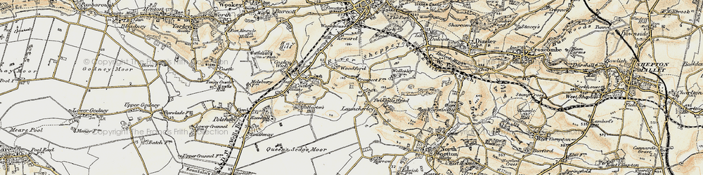 Old map of Launcherley in 1899