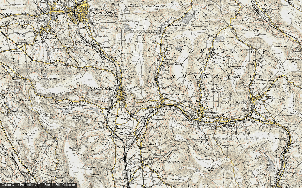 Old Map of Laund, 1903 in 1903