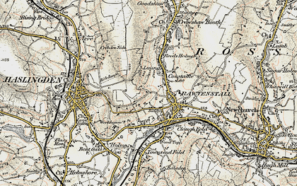 Old map of Laund in 1903