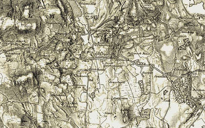 Old map of Willowbank in 1905