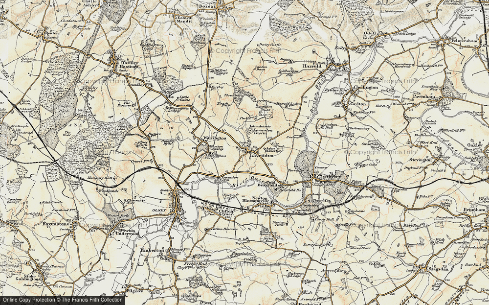 Old Map of Lavendon, 1898-1901 in 1898-1901