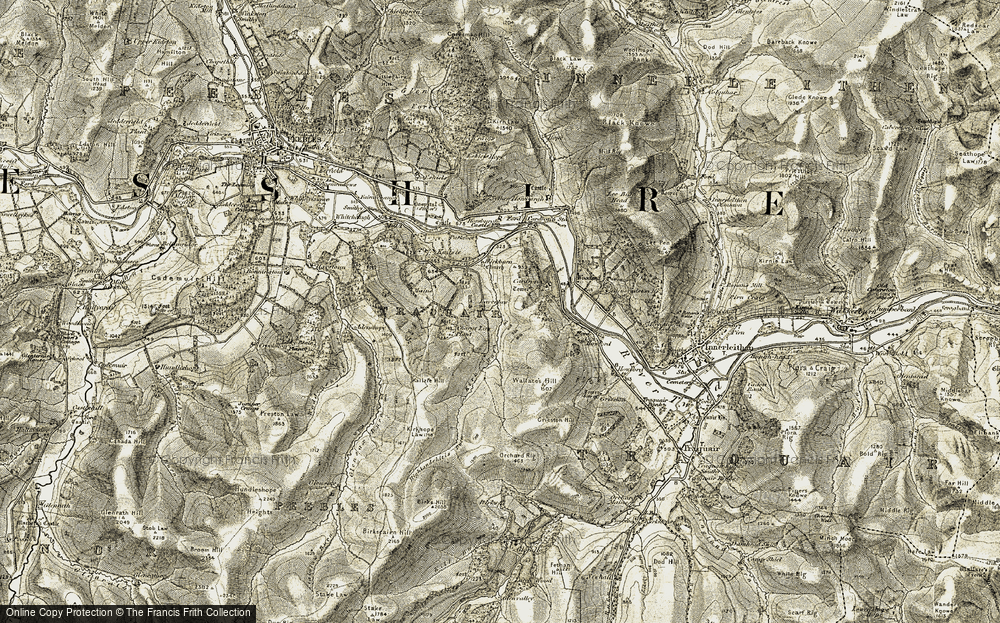 Old Map of Laverlaw, 1903-1904 in 1903-1904