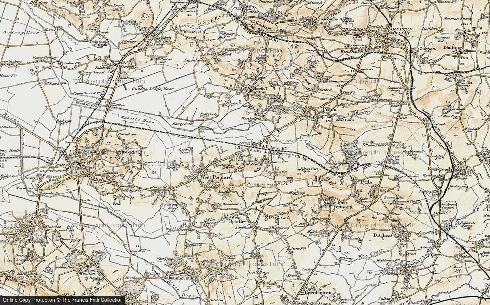 Old Map of Laverley, 1899 in 1899