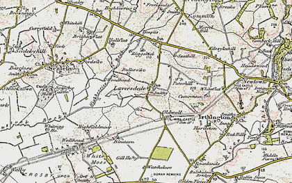 Old map of Laversdale in 1901-1904