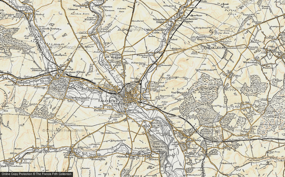 Old Map of Laverstock, 1897-1898 in 1897-1898