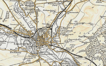 Old map of Laverstock in 1897-1898