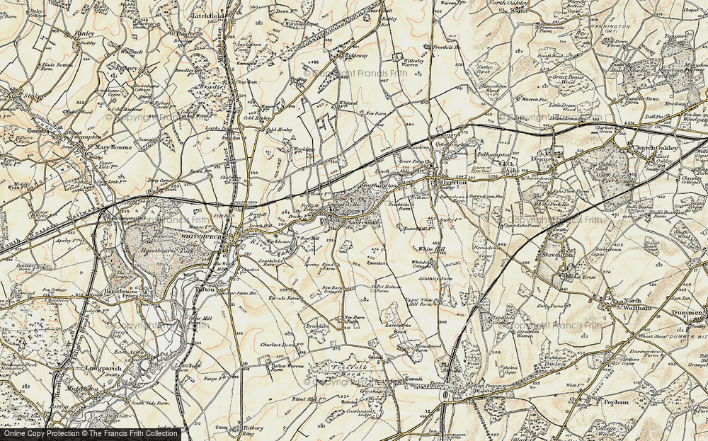 Old Map of Laverstoke, 1897-1900 in 1897-1900