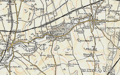Old map of Laverstoke Wood in 1897-1900
