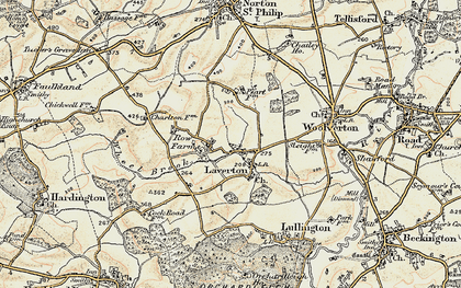 Old map of Laverton in 1898-1899
