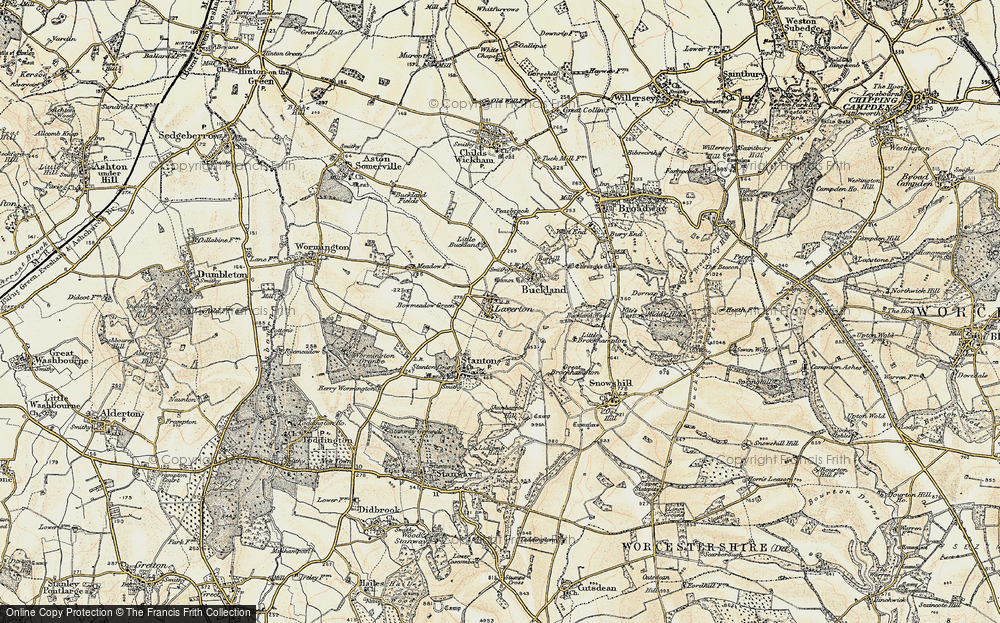 Old Map of Laverton, 1899-1901 in 1899-1901
