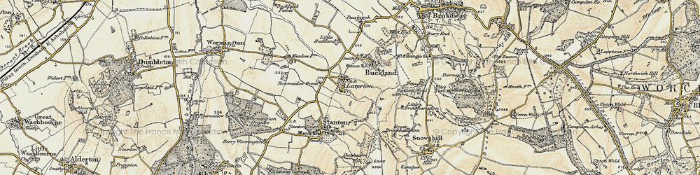 Old map of Laverton in 1899-1901
