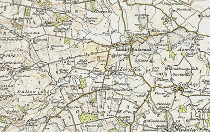 Old map of Laver Ho in 1903-1904