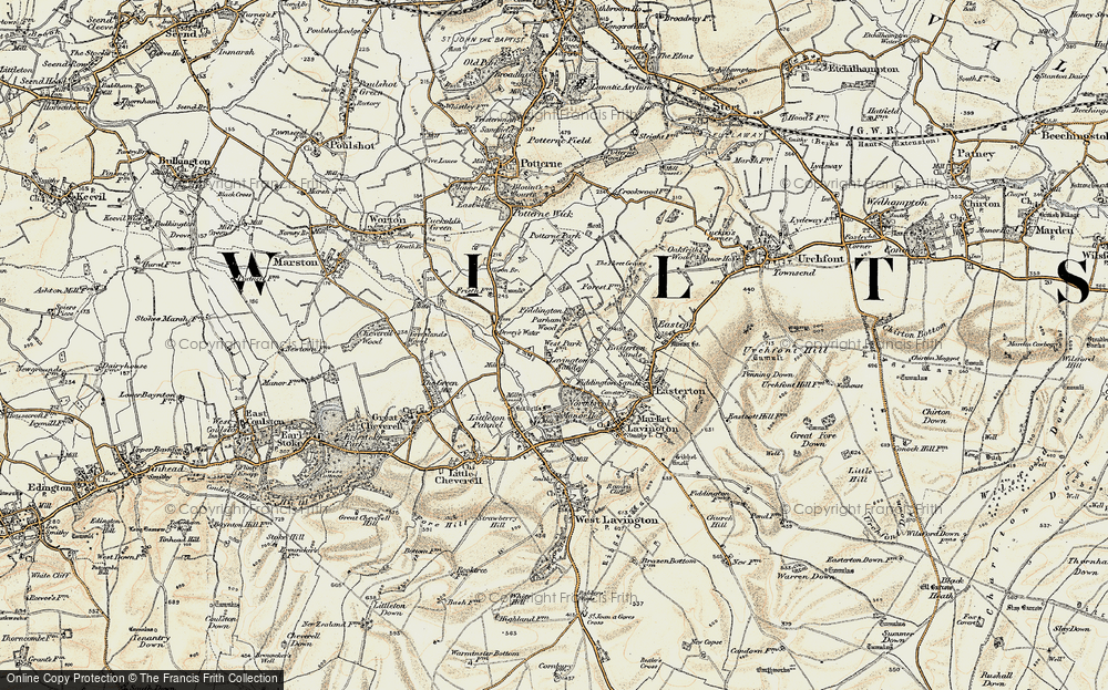 Old Map of Lavington Sands, 1898-1899 in 1898-1899