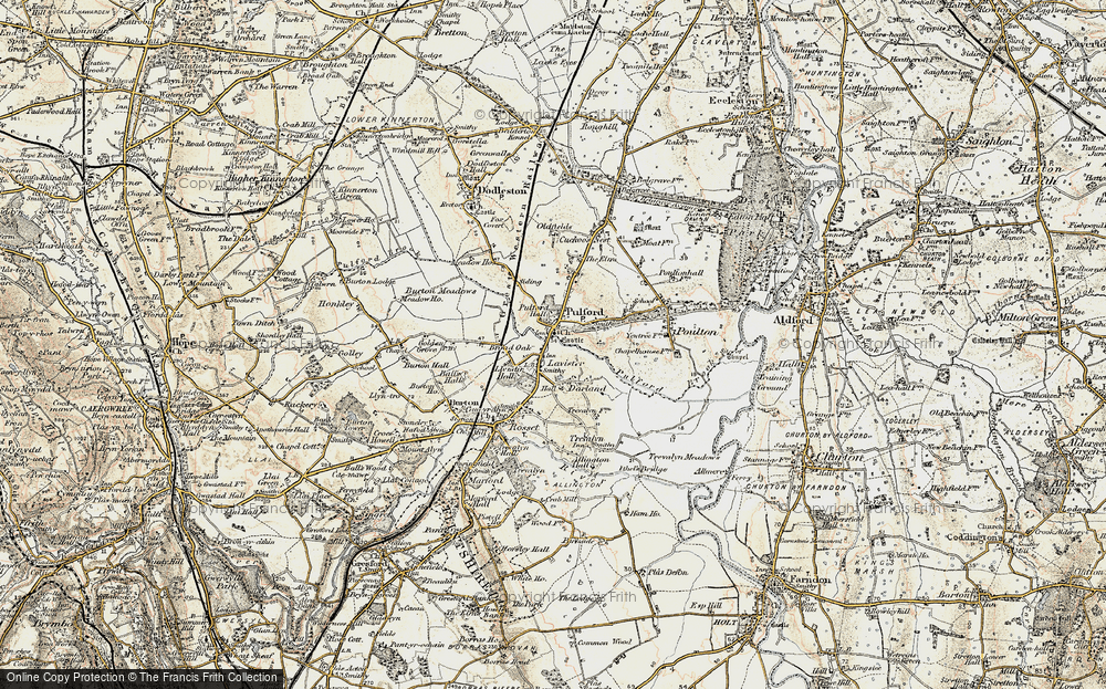 Old Map of Lavister, 1902-1903 in 1902-1903