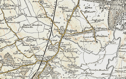 Old map of Lavister in 1902-1903