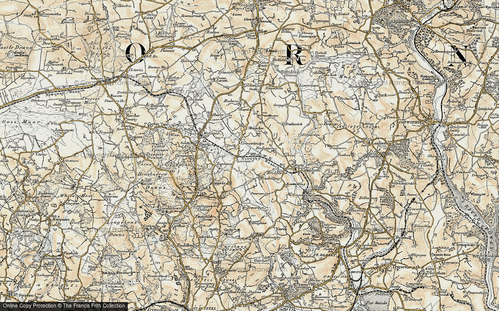 Old Map of Historic Map covering Lestoon in 1900