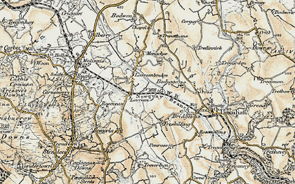 Old map of Lavrean in 1900