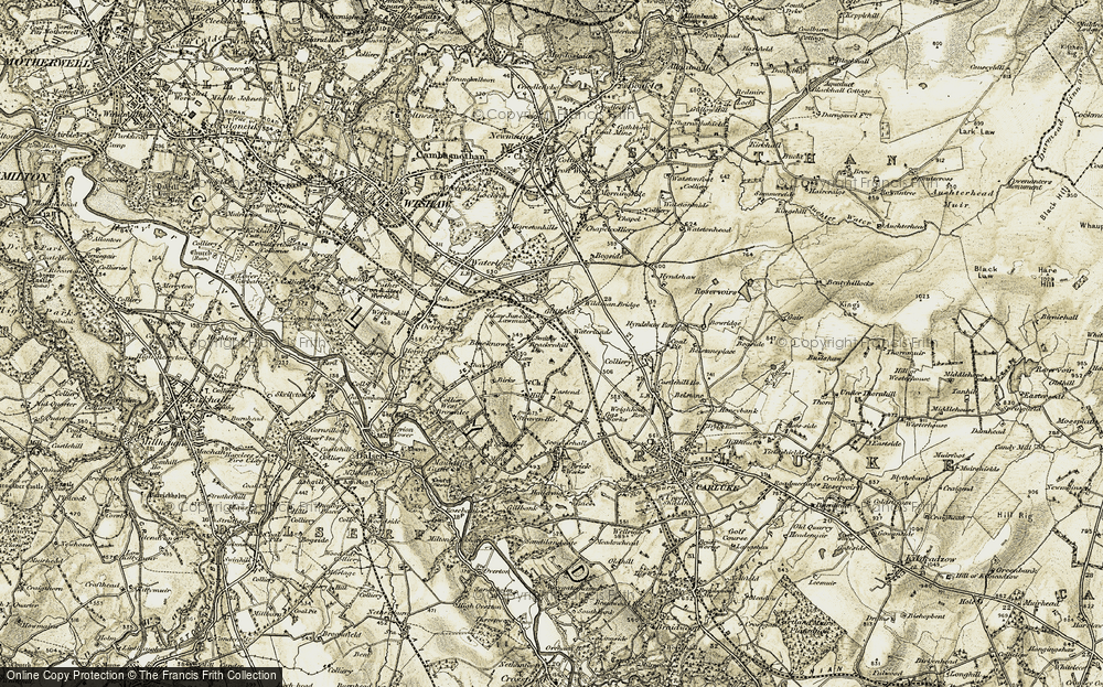 Old Map of Law, 1904-1905 in 1904-1905