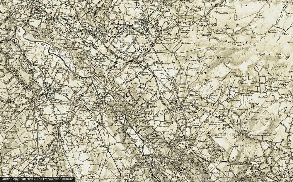 Old Map of Law Hill, 1904-1905 in 1904-1905