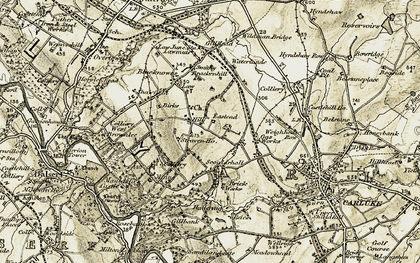 Old map of Law Hill in 1904-1905