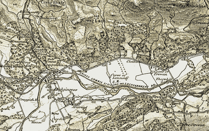 Old map of Lawers in 1906-1907