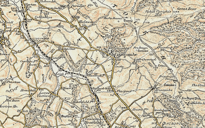 Old map of Lawford in 1898-1900