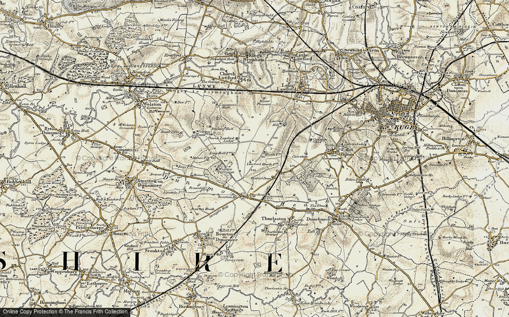 Old Map of Lawford Heath, 1901-1902 in 1901-1902
