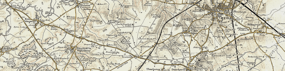 Old map of Lawford Heath in 1901-1902