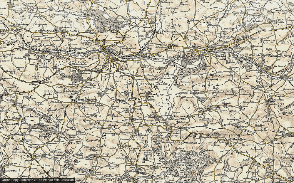 Old Map of Lawhitton, 1899-1900 in 1899-1900