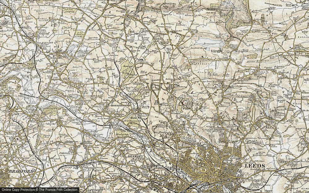 Old Map of Lawnswood, 1903-1904 in 1903-1904