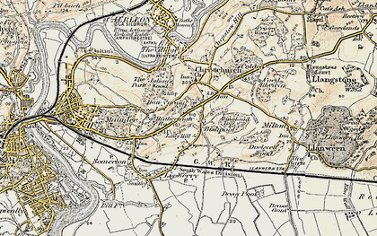 Old map of Lawrence Hill in 1899-1900