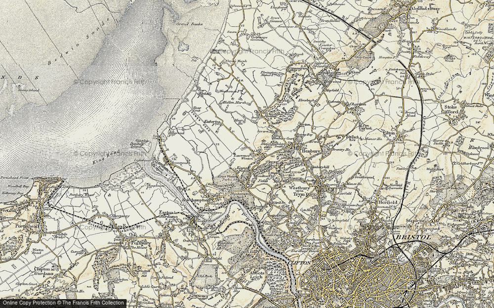 Old Map of Lawrence Weston, 1899 in 1899