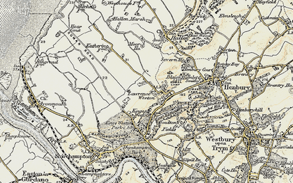 Old map of Lawrence Weston in 1899