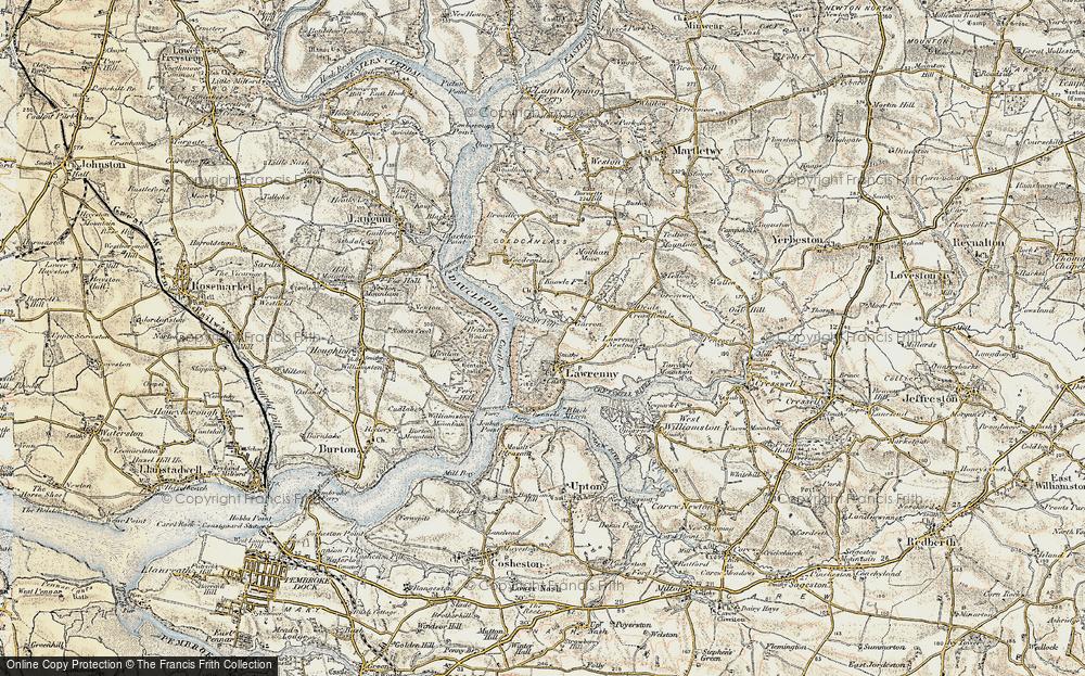 Old Map of Lawrenny, 1901-1912 in 1901-1912