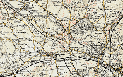 Old map of Lawton Heath in 1902-1903
