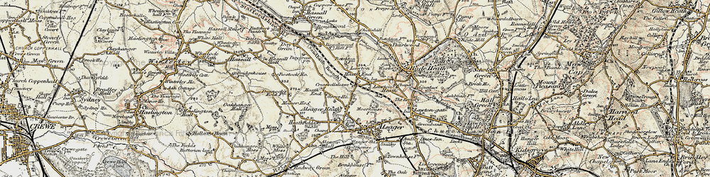 Old map of Lawton Heath End in 1902-1903