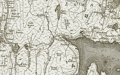 Old map of Laxo in 1911-1912