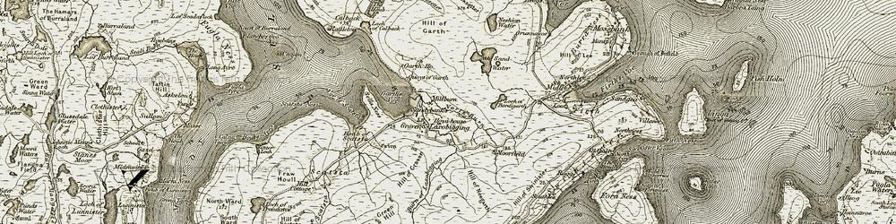 Old map of Laxobigging in 1912