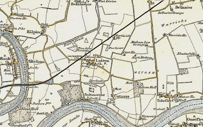 Old map of Laxton in 1903