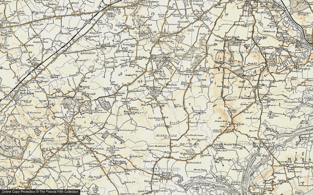 Old Map of Layer Breton, 1898-1899 in 1898-1899